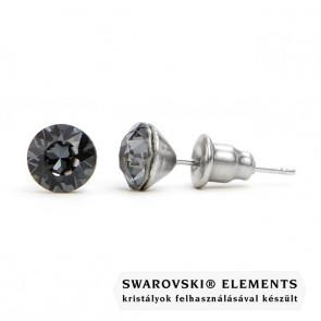 "Jazzy szürke SWAROVSKI® kristályos fülbevaló ""Scorpius"" - Kerek Silver Night"