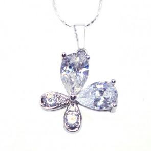 Swarovski kristályos nyaklánc nagy pillangó medállal