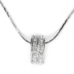 Swarovski kristályos nyaklánc:karika alakú medállal