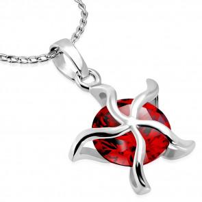 Csillag alakú kristállyal ékesített divat nyaklánc