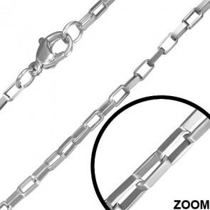 1.7 mm-es nemesacél nyaklánc ékszer