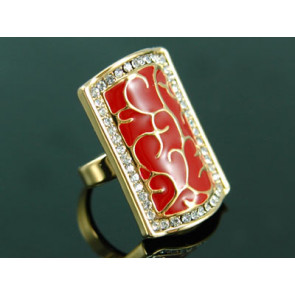 Antik stílusú, Swarovski kristályos gyűrű