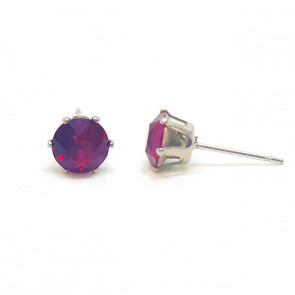 Jazzy piros Swarovski® kristályos fülbevaló - Kerek Karmos Ruby