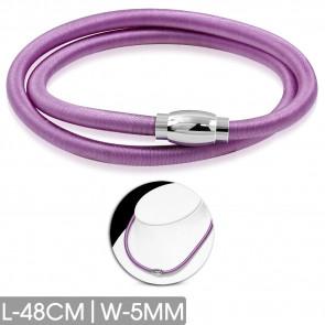 Violet színű rugalmas nyaklánc, nemesacél mágneses zárral