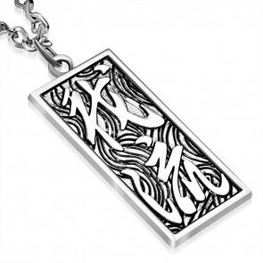 -Te és én- (kínai szimbólumokkal) medál ékszer nyaklánccal