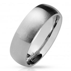 Ezüst színű, matt felületű nemesacél gyűrű