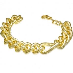 Figaró stílusú arany színű karkötő
