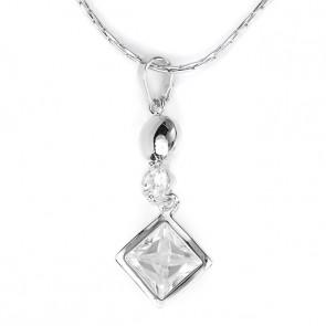 Swarovski kristályos nyaklánc Piramis kővel