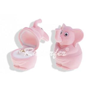 Rózsaszín, elefánt alakú ékszertartó doboz