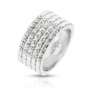 Swarovski kristályos széles gyűrű