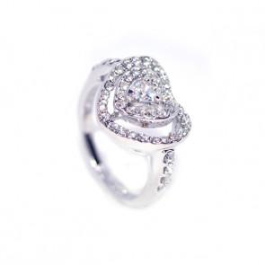 Szívbe Szív Swarovski kristályos gyűrű