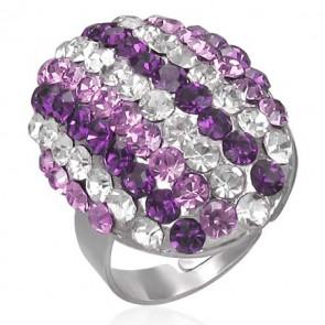 Ovális alakú divat gyűrű, cirkónia kristállyal