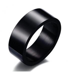 Fekete színű nemesacél gyűrű