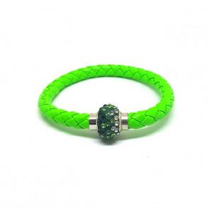 Divatos shamballa karkötő - zöld