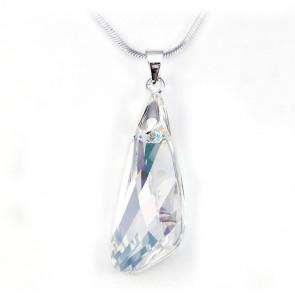 Swarovski® kristályos nemesacél nyaklánc - 23 mm - Szárny - Crystal