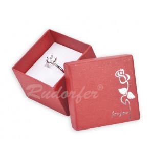 Piros színű ékszerszett tartó doboz