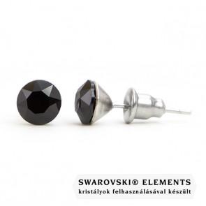 Jazzy Swarovski® kristályos fülbevaló - Kerek Jet