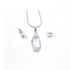 """Swarovski® kristályos ékszerszett """"Virgo"""" - Meteor 18 mm, Crystal AB"""