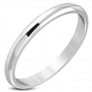 Ezüst színű, gravírozható nemesacél karikagyűrű