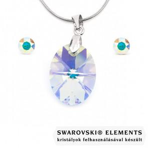 Swarovski kristályos ékszerszett