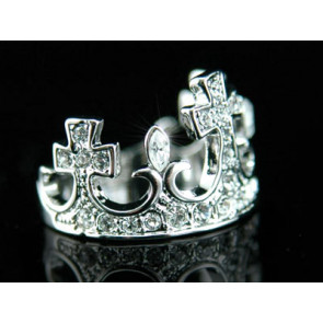 Korona alakú, Swarovski kristályos gyűrű