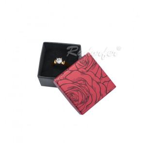 Piros színű papír ékszertartó doboz