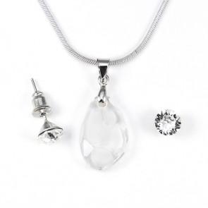 Swarovski kristályos ékszerszett - Buborék 18 mm, Crystal
